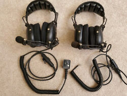 Otto V4000 Headsets Over The Headover Earblack. Set Of 2 Open Box Not Used