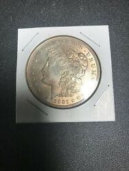 1921 Morgan Silver Dollar And039and039 Routine Die Cracked