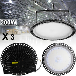 3X 200W UFO LED High Bay Light Ultra-thin Warehouse Garage Supermarket Lighting
