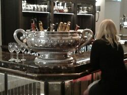 INCREDIBLY MASSIVE solid sterling silver Bowl - wine cistern OVER 15 KG !!