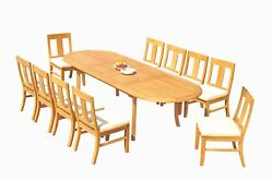 Dsos A-grade Teak 11pc Dining Set 118 Oval Table 10 Armless Chairs Outdoor