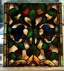 Great Antique Mayer Of Munich Stained Glass Window From A Closed Church - 1i