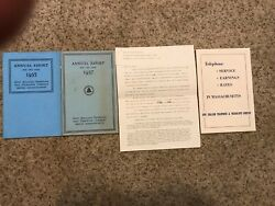 4 New England Telephone And Telegraph Annual Reports 1935, 1937, 1938, 1940's