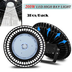 3X 200W UFO LED High Bay Light Super Bright Factory Warehouse Building Lighting
