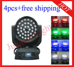 3610w Rgbw 4 In 1 Wireless Dmx Led Moving Head Zoom 4pcs With Case