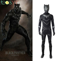 Captain America Civil War Black Panther Tand039challa Cosplay Costume Deluxe Outfit