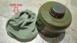 2pcs Vintage Soviet Russian Ussr Military Pmg Gas Mask Fabric Cover Filter Case