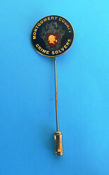 Montgomery County Police - Crime Solvers ... Beautifull Pin Badge - Gold Plated