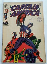 Captain America 111 Vg £66 March 1969. Postage On 1-5 Comics £2.95.