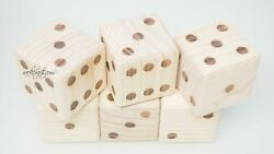 Large Giant Jumbo Wood Dice Set Casino Board Games Fun Heavy Duty Thick Solid