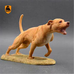 American Pit Bull Terrier Dog Pet Model Animal Figure Collector Decoration Gift