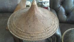Antique/vintage Asian Straw Hat Age And Origan Unknown Collectors Estate Find