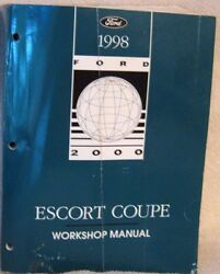 Ford 1998 Escort Coupe  Original Factory Shop Service Repair Workshop Manual