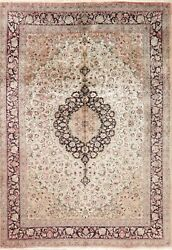 Silk Oriental Area Rug Floral Hand-knotted Traditional Carpet 7x10 Clearance