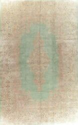 Over Size Traditional Green Oriental Rug Wool Hand-knotted Floral Carpet 13 X 20