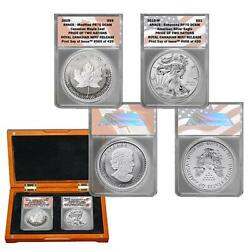 2-2019 Fdoi Pride Of Two Nations 1rcm And 1us Mint Sets In Anacs Pr 70 Dcam