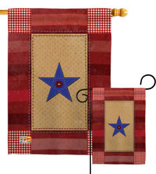 One Star Service Military Family Serving Armed Forces Garden House Yard Flag
