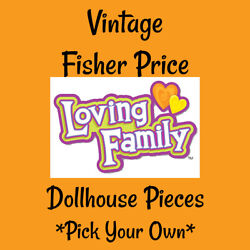 Vintage Fisher Price Loving Family Dollhouse Furniture Pick your pieces
