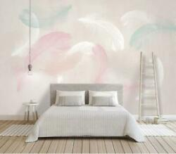 3D Modern Simple Feather Wallpaper Wall Mural Removable Self adhesive Sticker 13