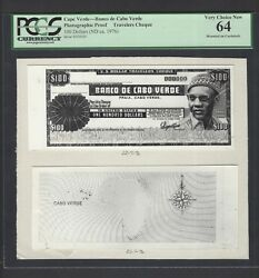 Cape Verde -travelers Cheque 10 Dollars Nd1976 Photographic Proof Uncirculated