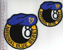 Us Civil Air Patrol Cap Air Force Auxiliary National Blue Beret 2 Patches