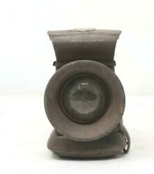 Antique Old Collectible Iron Carved Made In India Sardar No.1 Mark Lighting Lamp
