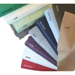Top Class 7 Pcs Bedding Set 1000tc Egyptian Cotton Only Solid Colors All Us Size
