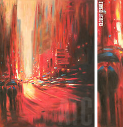 36wx48h Blurry Fourviere -boulevard Stretched Oil Painting Reproduction Canvas