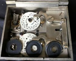 Vintage Diebold 2 Movement Time Lock W/ Combo Lock And Mounting Hardware