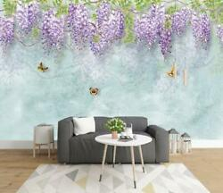 3D Lavender Wallpaper Wall Mural Removable Self adhesive Sticker 61