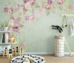 3d Dreamlike Flowers Self-adhesive Removable Wallpaper Feature Wall Mural 5