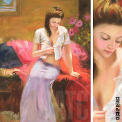 36wx48h Into The Night - Pino Daeni-style -oil Painting Reproduction On Canvas