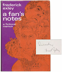 Frederick EXLEY  A Fan's Notes Signed 1968