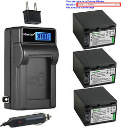 Kastar Battery Lcd Ac Charger For Sony Np-fv100 And Hdr-xr155 Hdr-xr160 Hdr-xr260