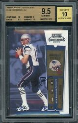 2000 playoff contenders tom brady highest graded In BGS holder With Two 10 Subs!