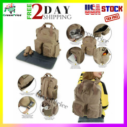 3-In-1 Tactical Waterproof Diaper Bag Set Backpack Tote Insulated Pocket for Men