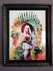 Heart And Will Daenerys By Jacob Bannon Framed Game Of Thrones Art Print