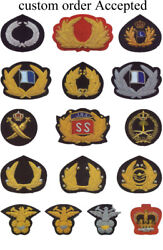 Wholesaler Hand Embroidery Bullion Wire Badges,patches,crests,brooch,insignia
