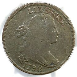 1798 S-149 R-4+ Pcgs Vg Details Draped Bust Large Cent Coin 1c