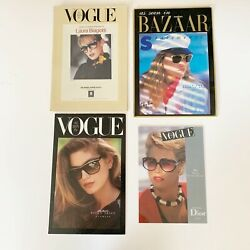 Store Sign Displays Stand Up Sunglasses 1980andrsquos Vintage Dior Vogue Ray-ban