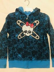 Monster High Large Girls Size 10 Turquoise Hoodie Zipper $7.00