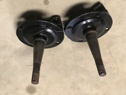 1937-41 Original Ford Spindles Round Back Forged Steel With No Steering Arms