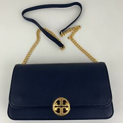New Tory Burch Chelsea Navy Convertible Crossbody Style 44339 $186.45