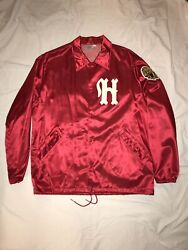 Ebbets Field Flannels Stain Coaches Jacket Size Xxl Habana Leones New