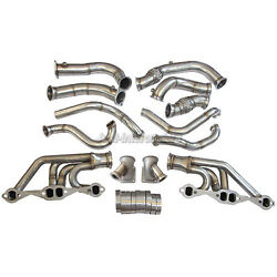Cxracing Twin Turbo Header Kit For 63-67 Chevrolet Chevelle Sbc A Body