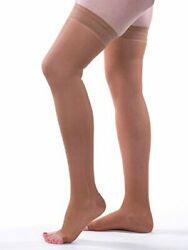 Allegro 20-30mmhg Essential 9 Sheer Support Open Toe Thigh High Compression Hose