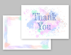 1-100 Pack Of Thank You Cards Postcards Notes And Envelopes A6 Thankyou Watercolor