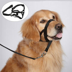 Adjustable 43-58 cm Pet Dog Safety Muzzle Halter Halti Style Head Collar XL Size
