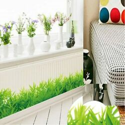 Wall Stickers Home Decorative Fresh Color Green Grass Plant Waterproof Wallpaper