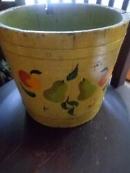 Vintage Hand Painted Maple Syrup Bucket Great Patina